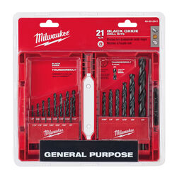 Milwaukee  THUNDERBOLT  Black Oxide  Drill Bit Set  21 pc.