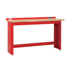 Craftsman  24 in. L x 6 ft. W x 41.25 in. H Workbench with Butcher Block Top  1450 lb. capacity