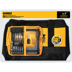 DeWalt  Multi Size   Drilling and Driving Utility Set  Black Oxide  64 pc.