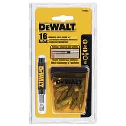 DeWalt  Multi Size in.  x 1 in. L Drive Guide  Heat-Treated Steel  16 pc.