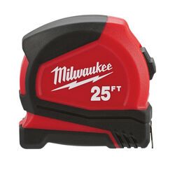 Milwaukee  25 ft. L x 1.65 in. W Compact  Tape Measure  1 pk