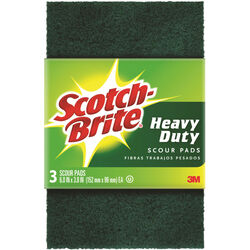 Scotch-Brite  Heavy Duty  Scouring Pad  For All Purpose 6 in. L 3 pk