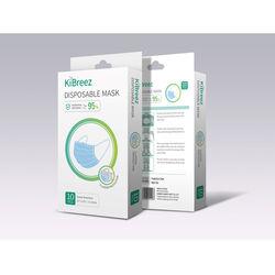 KiBreez  General Purpose  Disposable Mask  Blue  10 pk