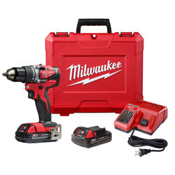 Milwaukee  M18  18 volt 1/2 in. Brushless  Cordless Compact Drill  Kit (Battery & Charger Included)