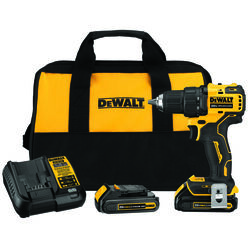 DeWalt  20 volt Brushless  Cordless Compact Drill/Driver  Kit  1/2 in. 1650 rpm