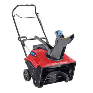 Toro  Power Clear  21 in. W 212 cc Single-Stage  Electric Start  Gas  Snow Blower
