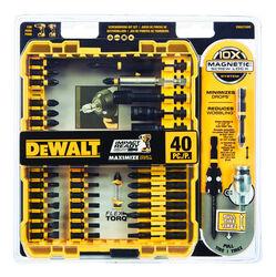 DeWalt  Impact Ready  Screwdriver Bit Set  Black Oxide  40 pc.
