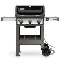 Weber  Spirit II E-310  Natural Gas  Grill  Black  3 burners