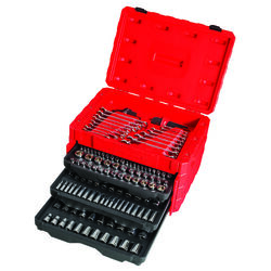 Craftsman  1/4, 3/8 and 1/2 in. drive  Metric and SAE  6 and 12 Point Mechanic's Tool Set  224 pc.
