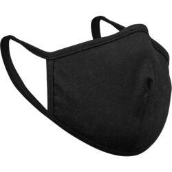 212  Double Layer Cotton  Face Mask  Black  1 pc.