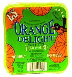 C&S Products  Orange Delight  Assorted Species  Wild Bird Food  Beef Suet  11.75 oz.