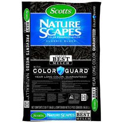 Scotts  Nature Scapes  Classic Black  Bark  Color-Enhanced Mulch  2 cu. ft. 12 sq. ft.