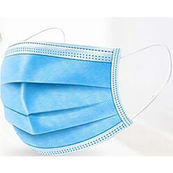 Stealth Air  Multi-Purpose  Disposable Face Mask  Blue  L  50 pk