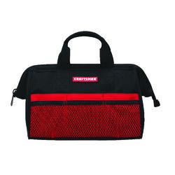 Craftsman  13 in. W Wide Mouth  Tool Bag  6 pocket Black/Red