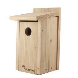 Audubon  12 in. H x 6.4 in. W x 6.4 in. L Red Cedar  Bird House