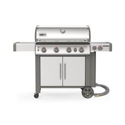 Weber  Genesis II S-435  Natural Gas  Grill  Stainless Steel  4 burners