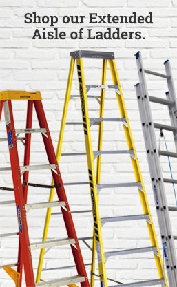 shop our extended aisle of ladders