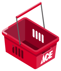 Ace Hardware shopping basket
