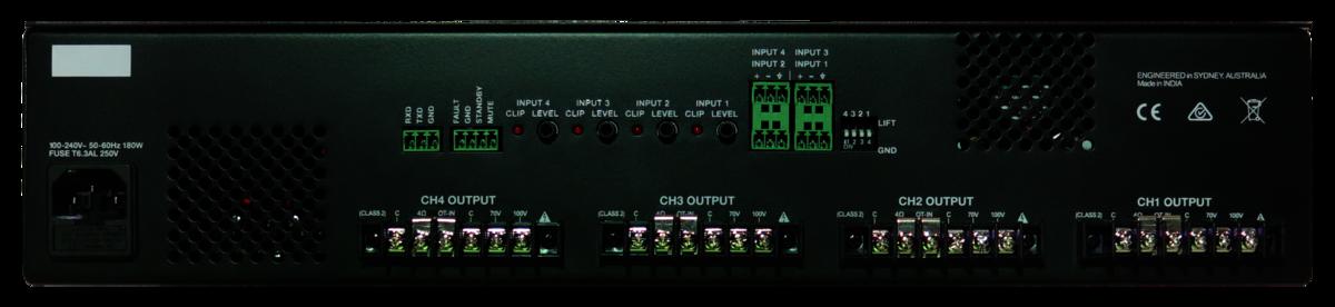 Australian Monitor HS4250P 4 x 250 watt Power Amplifier with