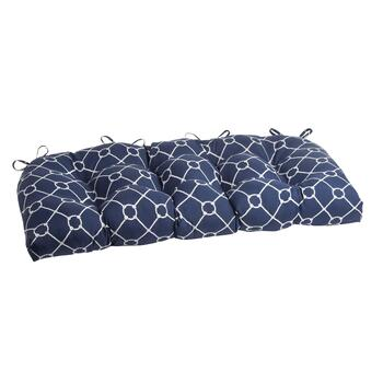 Nautical Knots Indoor/Outdoor Double-U Bench Seat Pad