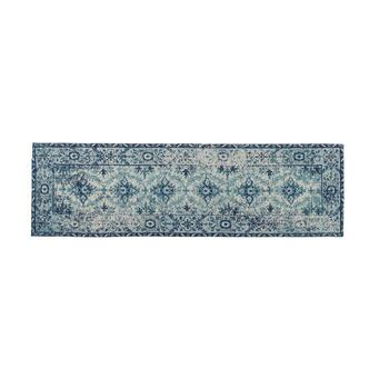 Blue Venezia Tapestry All-Weather Rug view 2 view 3