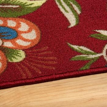 Waverly® Imperial Red Floral Rug view 2
