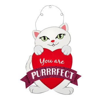 "14"" ""You Are Purrrfect"" Wood Cat Sign view 1"