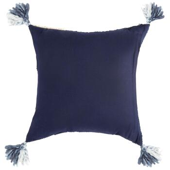 The Grainhouse™ Blue Diamond Tassel Square Throw Pillow view 2