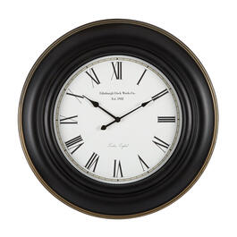 "26"" Black Round Roman Numeral Wall Clock view 1"