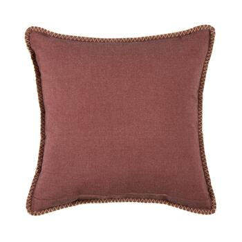 Red Flower Embellished Square Throw Pillow view 2