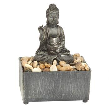 Zen Buddha River Rock Tabletop Fountain