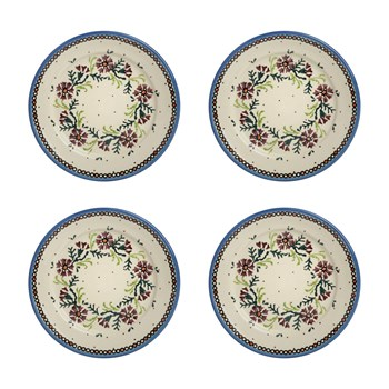 Watercolor Ceramic Salad Plates, Set of 4