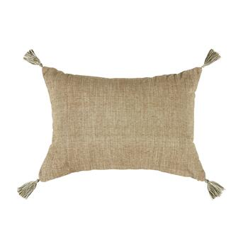 "The Grainhouse™ 14""x20"" Green Medallion Tassel Oblong Throw Pillow view 2"