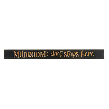 "Sign Wd Mudrm 36"" Gy/cr view 1"