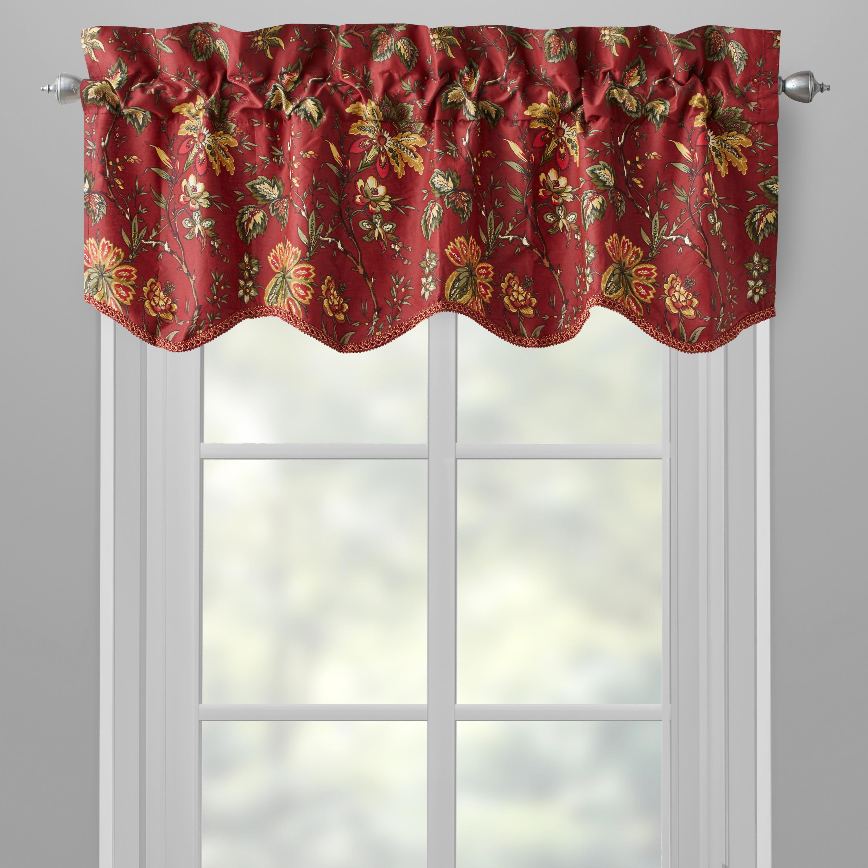 floral window valances bathroom window waverlyreg red felicity floral window valances waverly set of christmas
