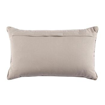Silver Basketweave Oblong Throw Pillow view 2