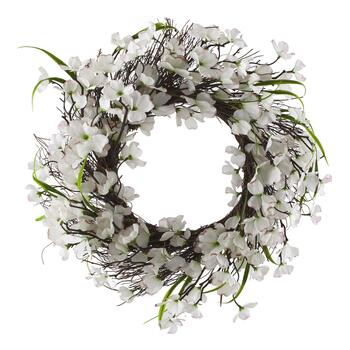 "22"" Faux Dogwood Wreath"