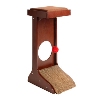 "26"" Espresso Wooden Cat Tower view 1"