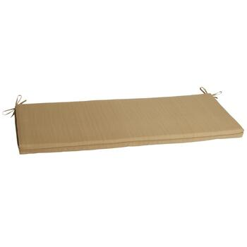 Solid Brown Indoor/Outdoor Bench Seat Pad