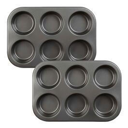 6-Cavity Texas Muffin Pans, Set of 2