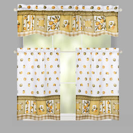 Lemons Window Tier & Valance Set view 1