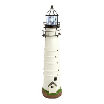"30.25"" Boston Solar Lighthouse with Rotating Beacon"