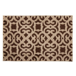 "Mohawk Home 30""x45"" Brown/Taupe Scroll Accent Rug view 1"