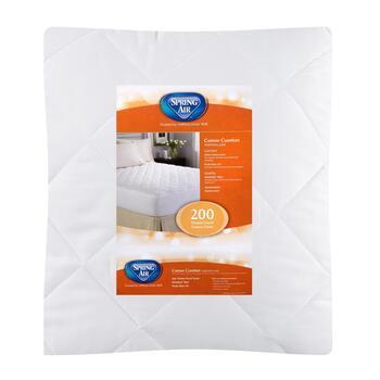 spring air mattress pad Spring Air® 200 Thread Count Cotton Mattress Pad   Christmas Tree  spring air mattress pad