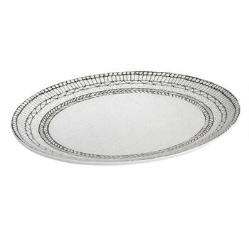 "15"" Digital Geometric Oval Platter"