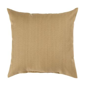 Solid Brown Indoor/Outdoor Square Throw Pillow