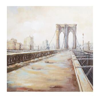 "30"" City Bridge Canvas Wall Art"