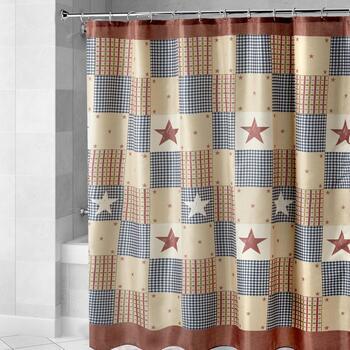 Patriotic Patchwork Shower Curtain