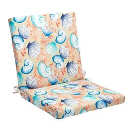 Seashells Indoor/Outdoor Mid-Back Chair Pad