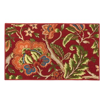Waverly® Imperial Red Floral Rug